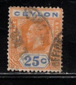 CEYLON Scott # 238 Used - King George V
