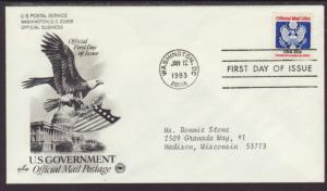 US Official 1983 PCS Typed FDC BIN