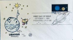 Steve Wilson Hand Painted 2575 Uranus Voyager 2 Pasadena CA