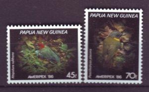 J21858 Jlstamp 1986 png hv,s of set mnh #647-8 birds