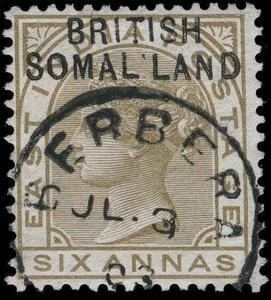 Somaliland Protectorate Scott 13e Gibbons 7 Variety Used Stamp