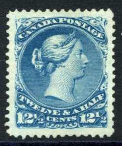 CANADA: Sc.#28  (*)  12 1/2¢ Blue, SPECTACULAR example of this SCARCE stamp,...