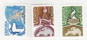 Russia Scott 5778-5780 MNH** 1989 set