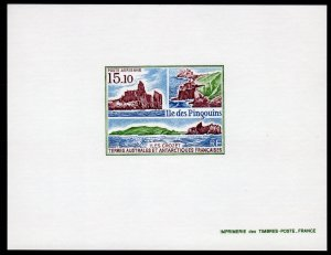 FSAT/TAAF Sc#C101 VIEWS OF PENGUIN ISLAND Deluxe S/S Imperforated MNH