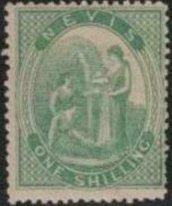 Nevis 1876 SC 17 Mint