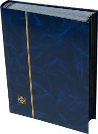 Lighthouse Stockbook, 64 Black Pages, Blue Cover 01356