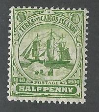 Turks and Caicos  Islands gum has a light tone mnh S.C. 10