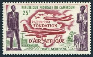 Cameroun C37,MNH.Michel 353. Air Afrique 1962.Plane Map,Sheep.