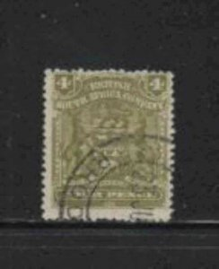 RHODESIA #64 1898 4p COAT OF ARMS F-VF USED