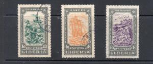 LIBERIA F31-2, 4 Registration stamps