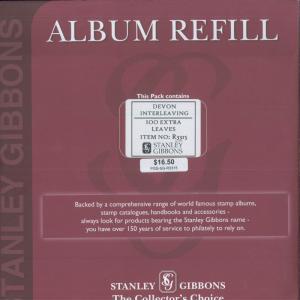 Stanley Gibbons Devon Peg Fitting Transparent Interleaving Album Refill R3315