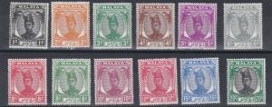 TRENGGANU  1949 - 55  S G  67 - 78  VALUES 1C TO 20C  BLACK & GREEN   MH