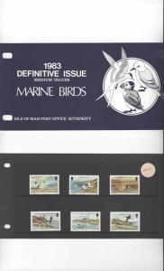 Isle of Man 224-39 Marine Birds Definitives MNH Presentation Folder