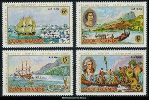 Cook Islands Scott C12-C15 Mint never hinged.