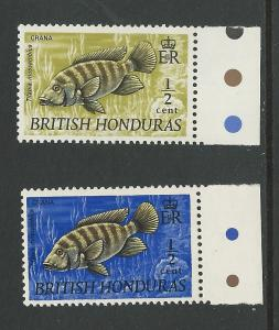 British Honduras # 234-35 Fish - half-cent  (2) Mint NH