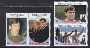 Tuvalu - Nukufetau # 58-59, Prince Andrew Royal Wedding, NH, 1/2 Cat.
