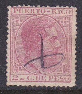 Puerto Rico #64 F-VF Used King Alfonso XII