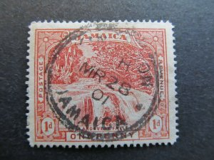 A4P21F17 Jamaica 1900-01 1d used