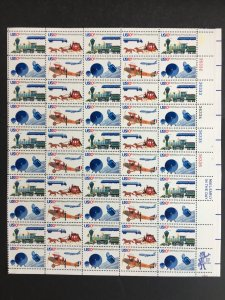 1975 sheet 200th Anniversary of the US Postal Service Sc# 1572-5
