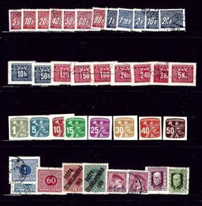 WW22 38 stmps; 1 dup; Czechoslovakia mint and used