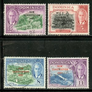Dominica # 137-40, Used. CV $ 2.90