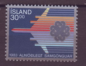 J25445 JLstamps 1983 iceland set of 1 mnh #580 airplane