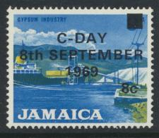 Jamaica SG 285 MNH  SC# 284  Decimal Currency OPT see details