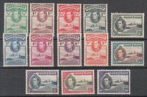 Gold Coast - 1938/1941 KGVI stamp complete set Sc# 115/127 - MH (7008)