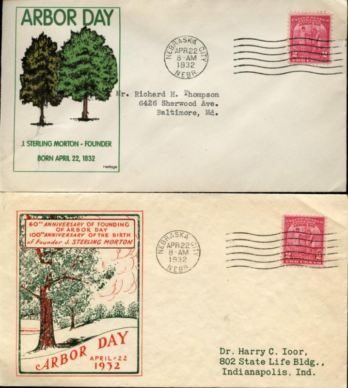 #717 2 DIFF FDC CACHET BY IOOR & HERITAGE BN2752