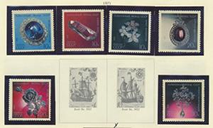 Russia Scott #3917 To 3922, Precous Jewels Issue From 1971, Collectible Posta...