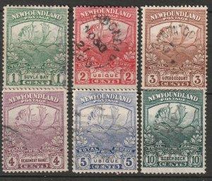 Newfoundland 1919 Sc 115-9,122 partial set used