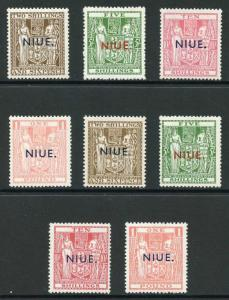 Niue SG79/86 1941 High Values Set with Both Wmks Fresh M/Mint
