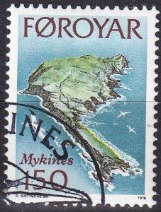 Faroe  Islands #34 F-VF Used