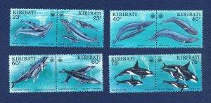 KIRIBATI - Scott 623-630a - FVF MNH - Whales - 1994