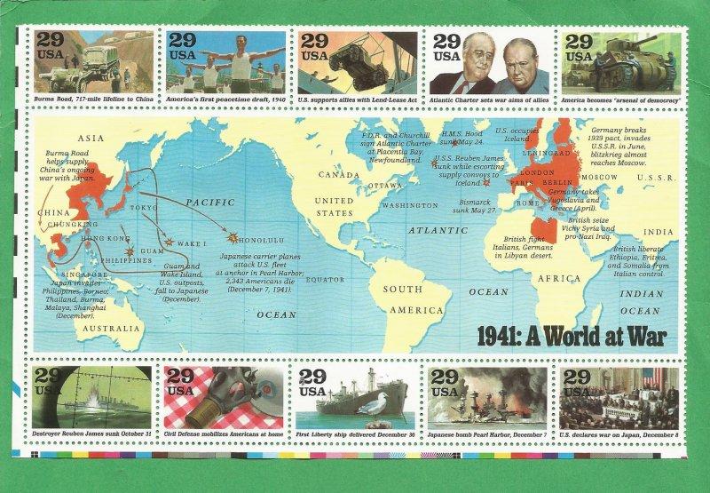 US Postage Stamps MNH (10 stamps)
