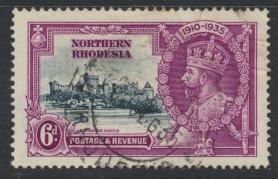 Northern Rhodesia  SG 21 SC# 21 Used / FU  -  Silver Jubilee - see details