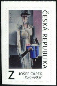 HERRICKSTAMP NEW ISSUES CZECH REPUBLIC Josef Capek Painting Self-Adh.