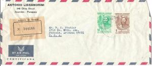 Paraguay #1222,1227 on Cover CV.$1.75