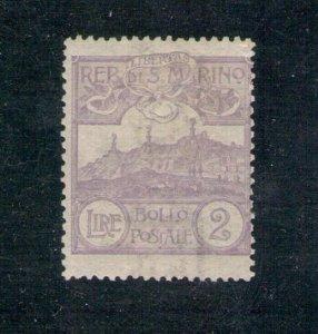 1903 San Marino, N°44, 2 Lire Violet, Certificate Zanaria, Mlh