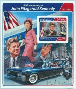 A1061 - MALDIVES  -  IMPERF, Souvenir s: 2017, John F. Kennedy, Flags, Cars