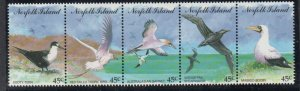Norfolk Island Sc 565 1994 Sea Birds stamp strip mint NH