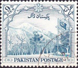 PAKISTAN 1954 QEII 9p Blue SG66 FINE USED