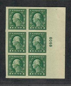 US Sc#481 M/NH/EF, Plate Block #8068, Cv. $45