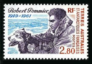 FSAT 198,MNH.Michel 321. Explorer Robert Pommier.1993.Dog.