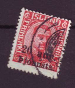 J3166 JL stamps 1923 iceland used set/1 #052 $2.50 ovp,t