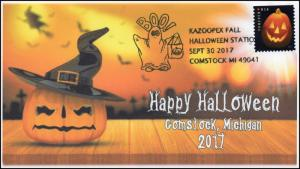 17-277, 2017, Kazoopex Fall Halloween, Comstock MI, Event Cover, Pictorial Cance