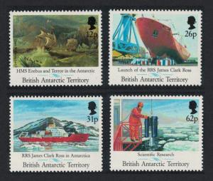 BAT Maiden Voyage of 'James Clark Ross' Research ship 4v SG#200-203