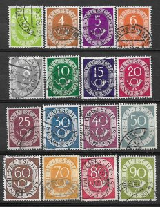 COLLECTION LOT #424 GERMANY # 670-85 1951+ CV+ $40