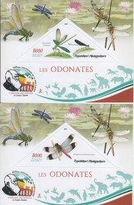 2019 Madagascar Dragonflies  SS III & IV (Scott NA) MNH
