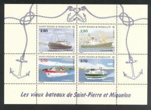 St. Pierre & Miquelon Scott 604 MNH** 1994 ship sheet CV$8.5